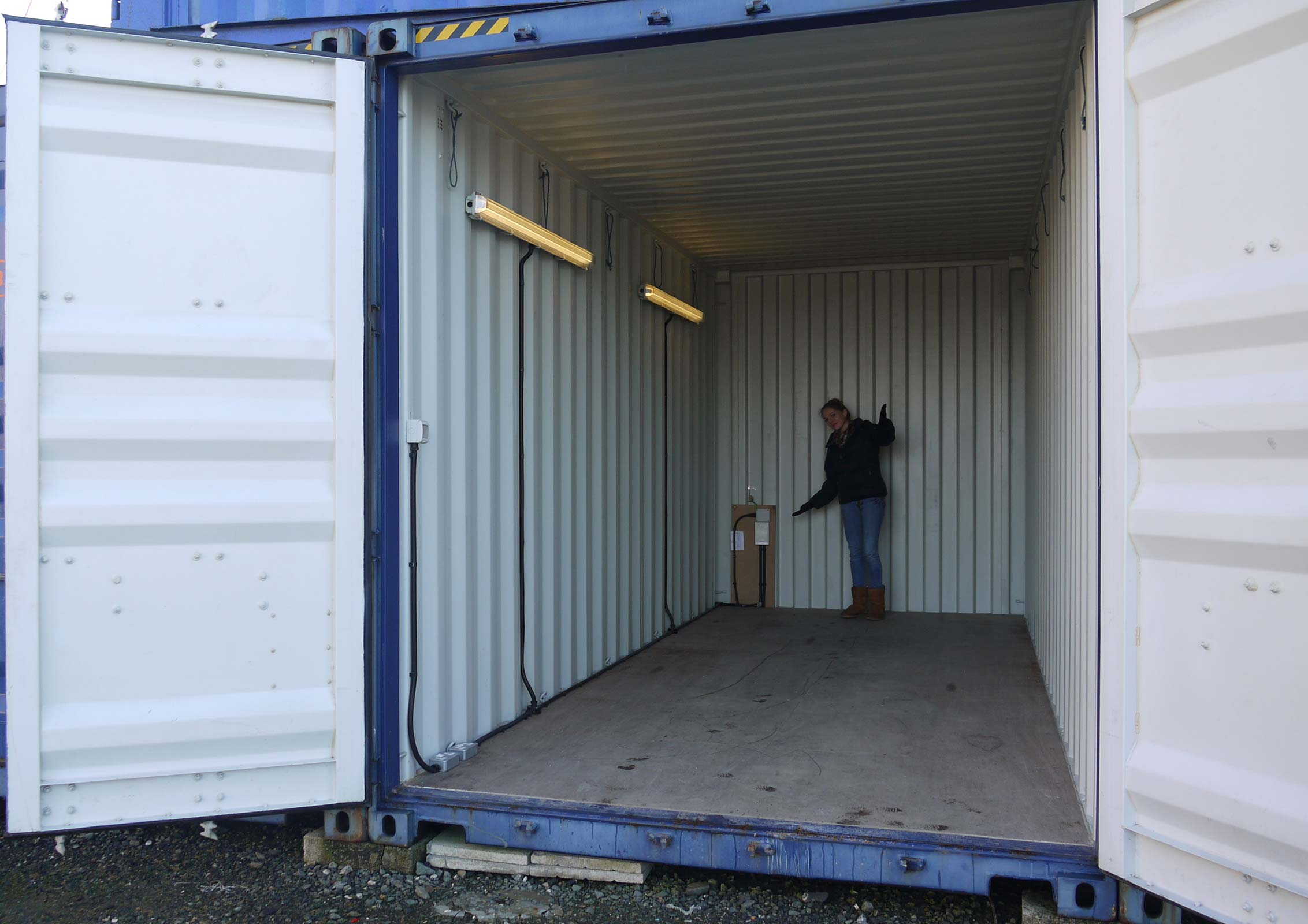 20ft Container with lighting and electric Bude Self Storage