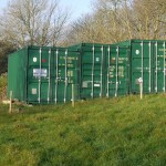 3 x 20ft green containers off-site